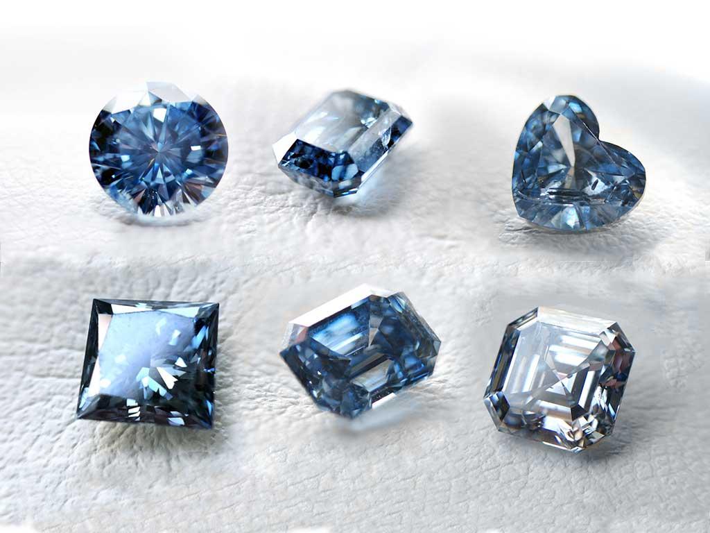 Cuts and Shades of Blue Ash Diamonds Algordanza UK
