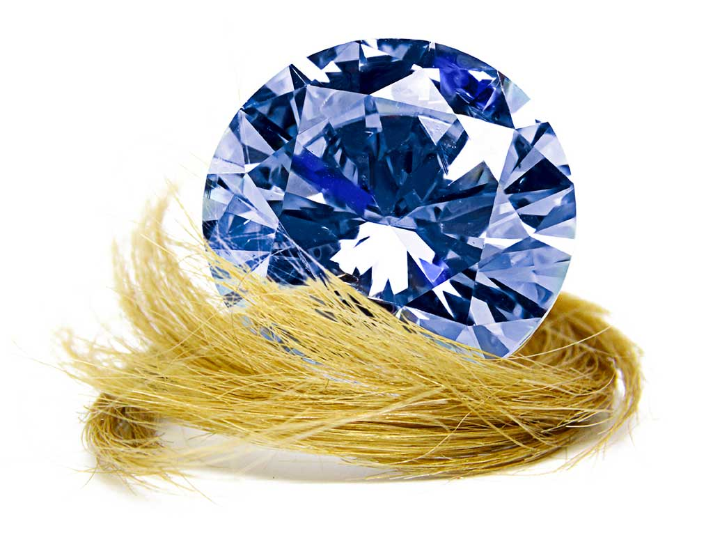 Memorial Diamonds are made from hair and sometimes ashes